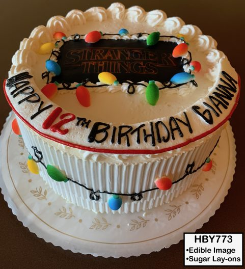 custom decorated birthday cake stranger things