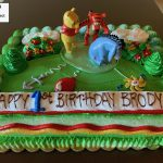 custom decorated birthday cake winnie the pooh