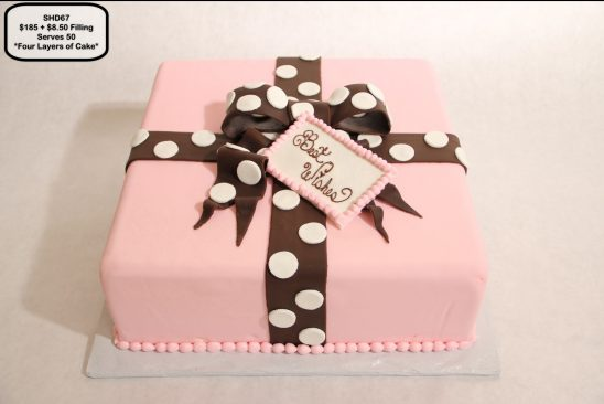 custom bridal shower decorated cake present package