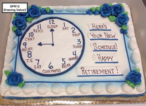 custom special moments retirement decorated cake clock
