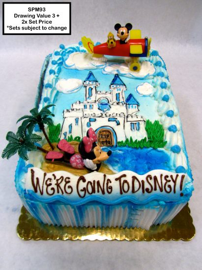 custom special moments retirement decorated cake disney castle