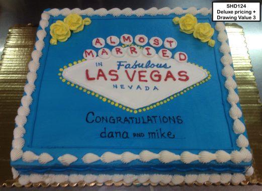 custom bridal shower decorated cake las vegas