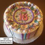 custom birthday decorated cake teen sweet 16