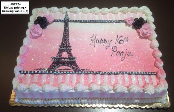 custom birthday decorated cake teen paris