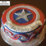 custom birthday decorated cake teen captain america marvel