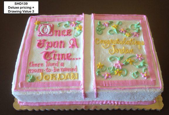 custom bridal shower decorated cake fairytale