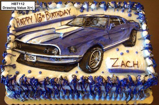 custom birthday decorated cake teen car