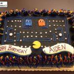 custom birthday decorated cake teen pac man