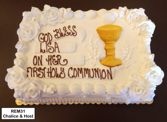custom religious decorated cake communion