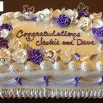 custom bridal shower decorated cake roses silver