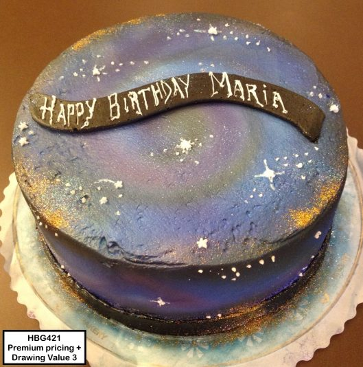 custom birthday decorated cake galaxy space