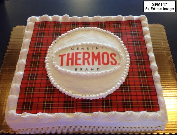 custom special moments retirement decorated cake plaid thermos
