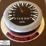 custom birthday decorated cake car driving