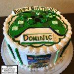 custom decorated birthday cake video games xbox