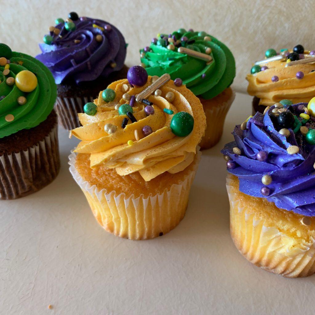 Mardi Gras Cupcakes 2020
