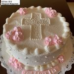 custom religious decorated cake cross