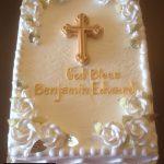 custom religious decorated cake cross gold