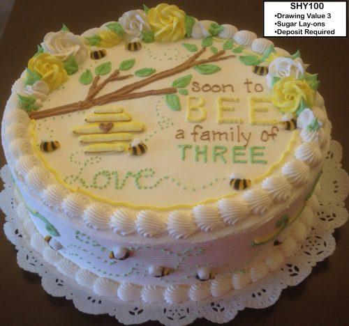 custom cake baby shower