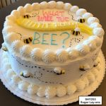 custom baby shower decorated cake bees gender reveal