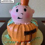custom baby shower decorated tiered cake pumpkin fall autumn