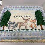custom baby shower decorated cake woodland animals