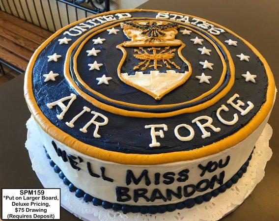 custom graduation decorated cake military air force