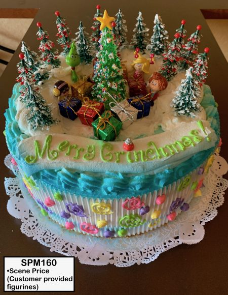 custom special moments retirement decorated cake christmas grinch