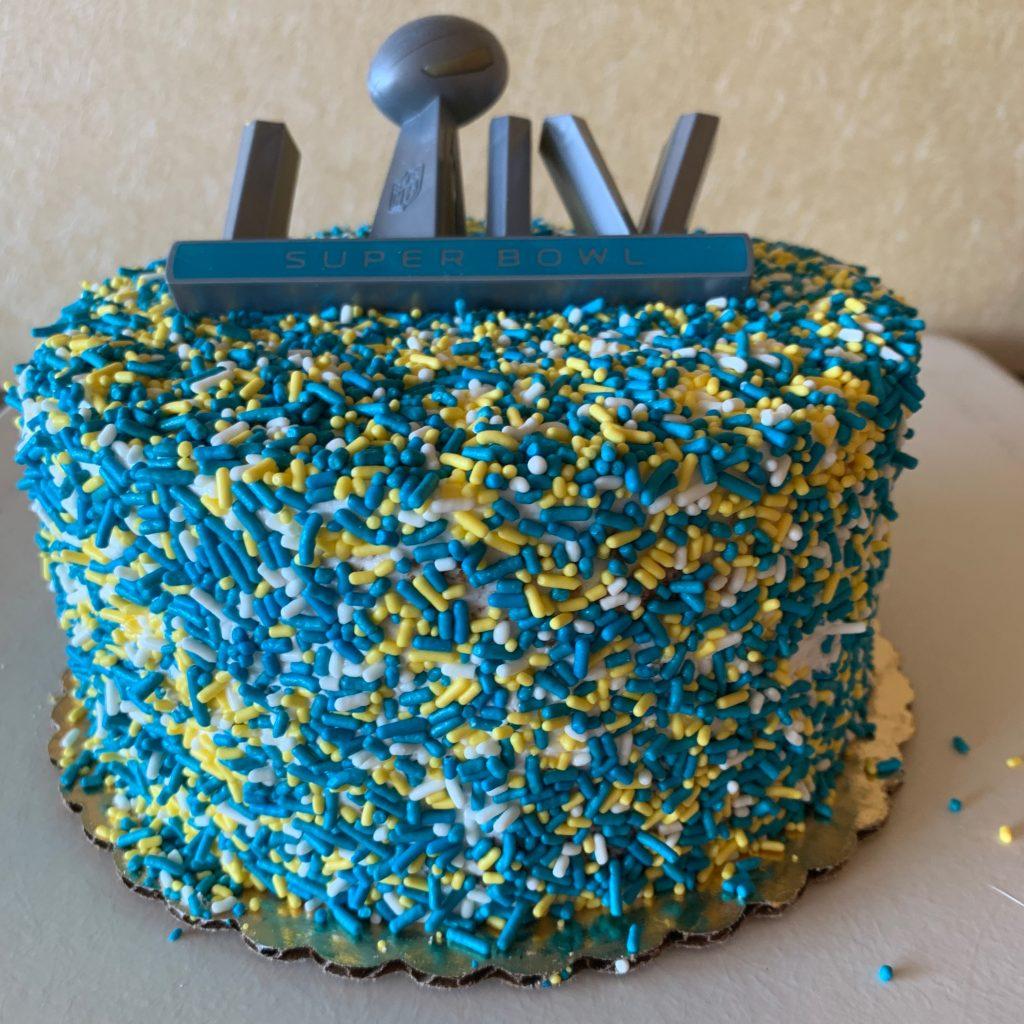 Sprinkle Cake - Football Game Day 2020