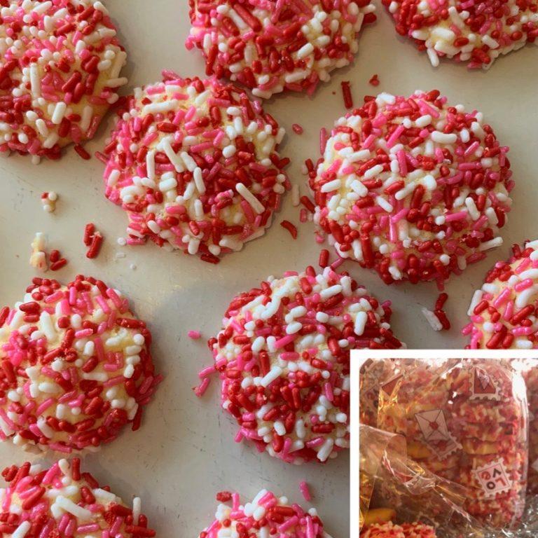 Valentines Day Button Cookie Bag