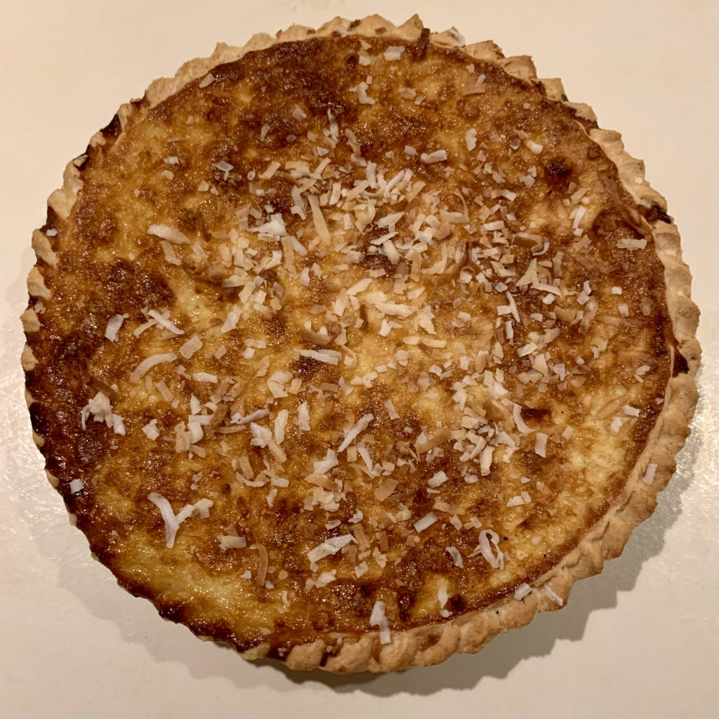 Baked Coconut Custard Pie