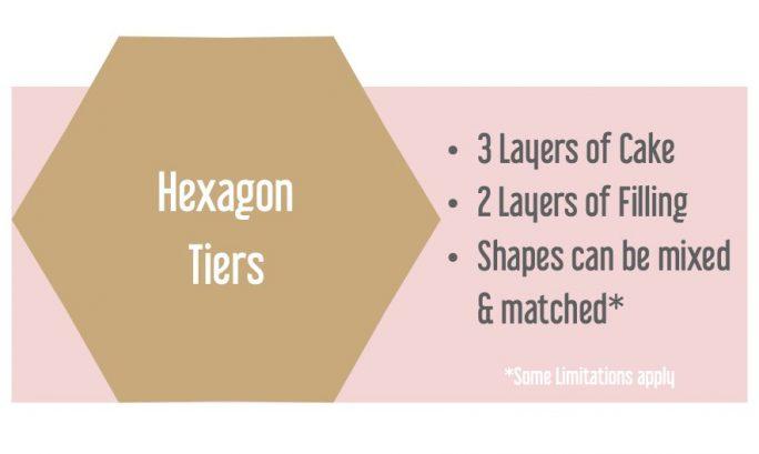 Hexagon Tiers Wedding Cakes