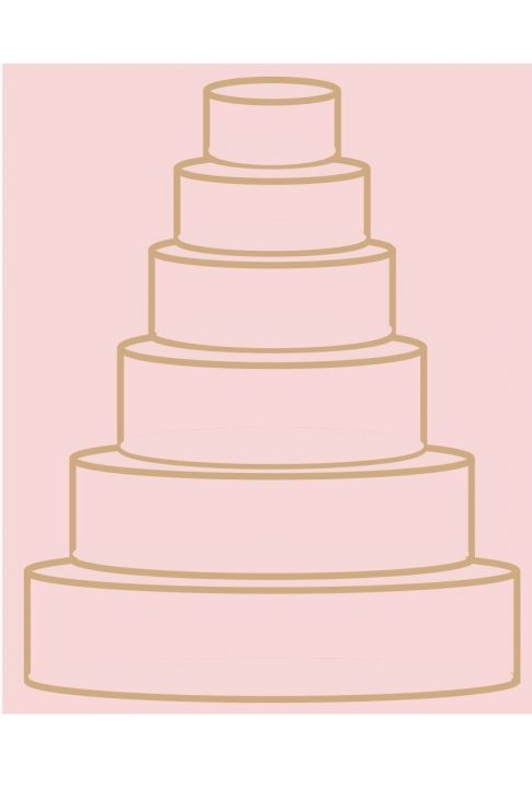 Round Wedding Cake Graphic