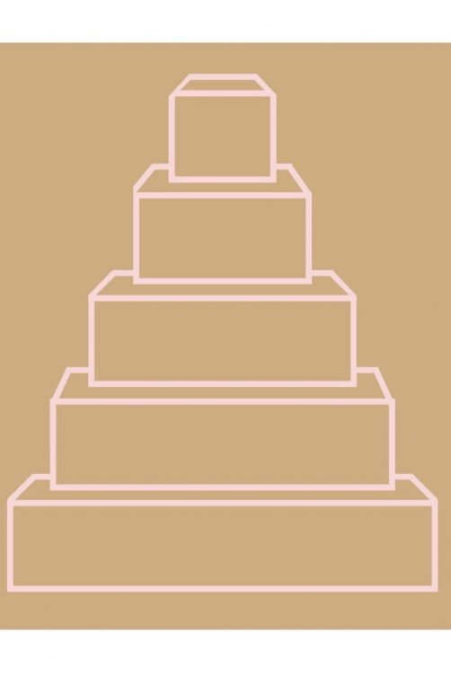 Square Wedding Cake Graphic