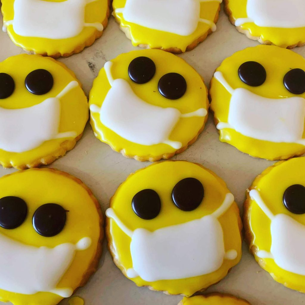 Masked Smiley Face Cookies