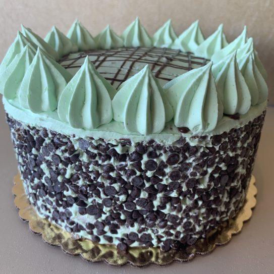 Mint Chocolate Chip Torte