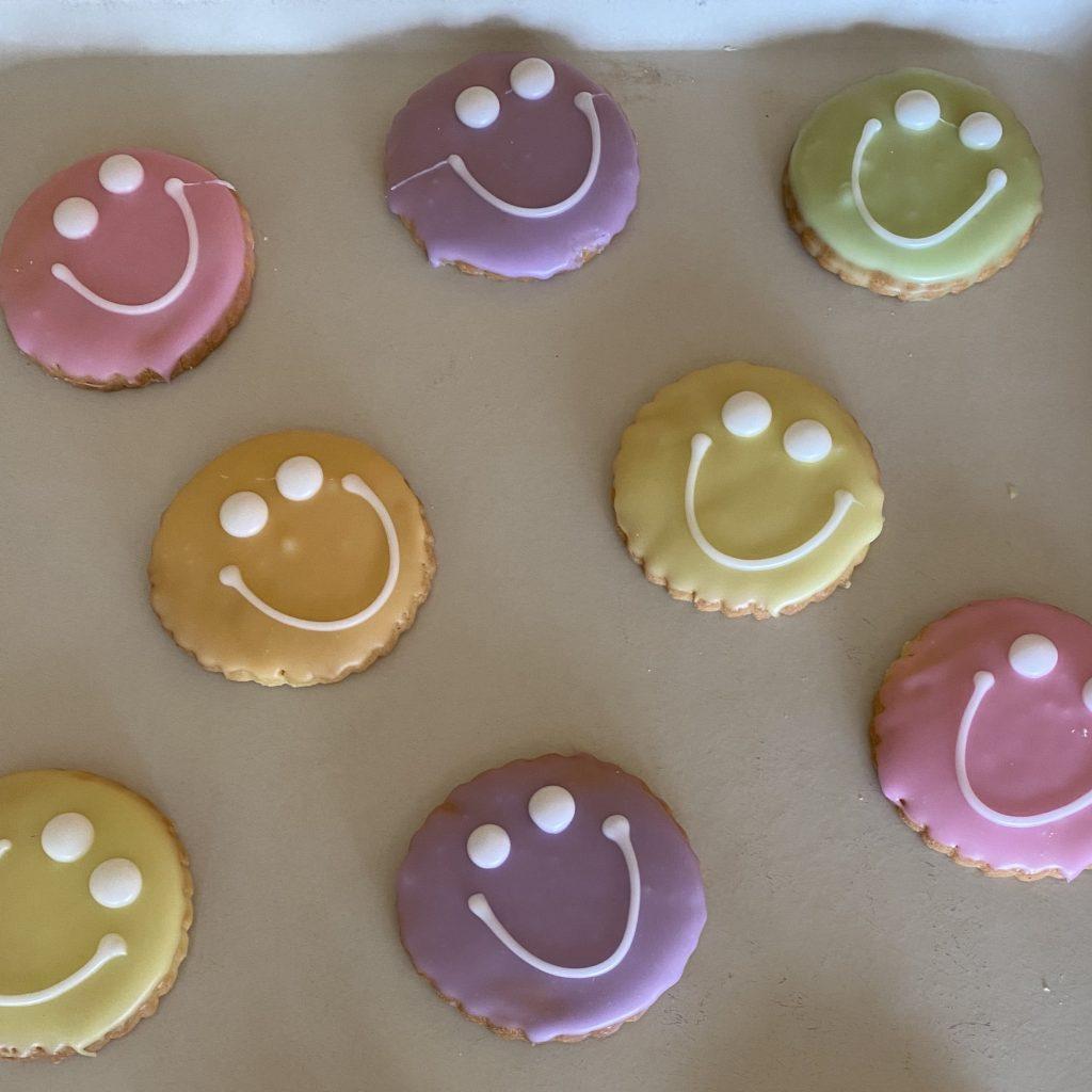 Pastel Smiley Face Cookies