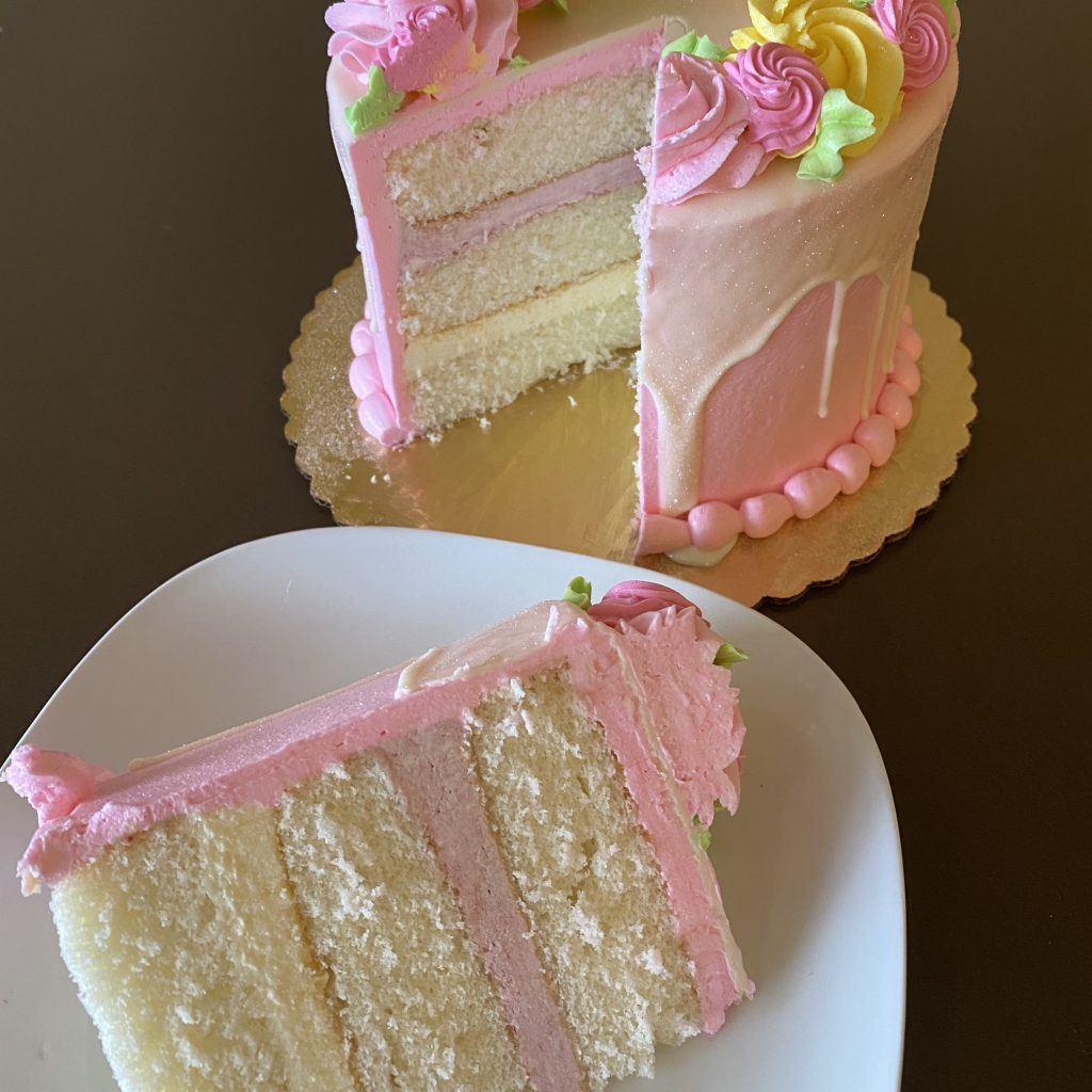 Mother's Day Centerpiece Cake Slice 2020