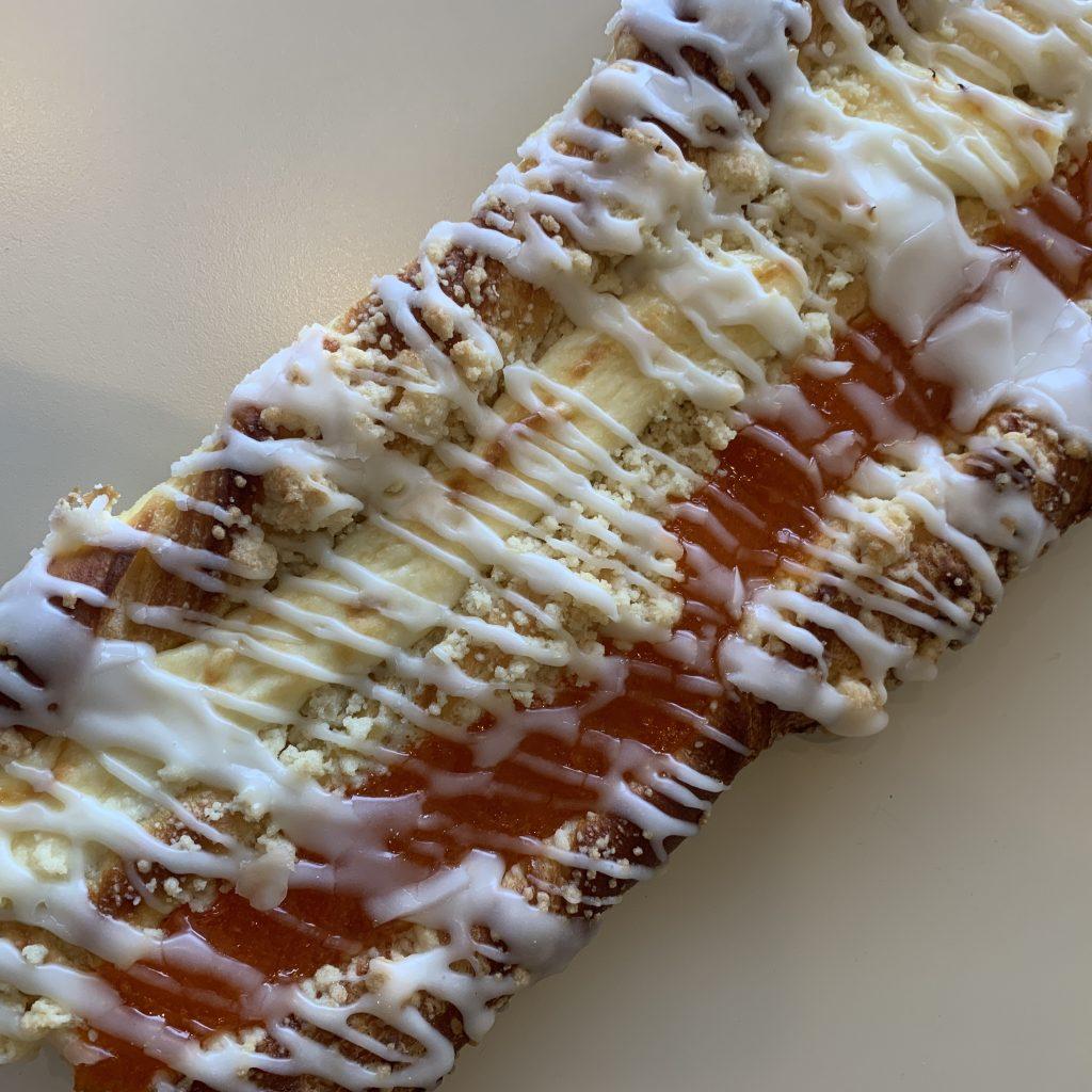 Apricot Cheese Strip (square) Coffeecake