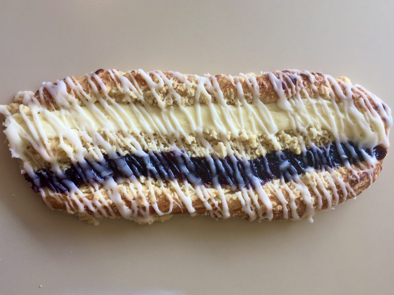 Blueberry Cheese Strip Coffeecake