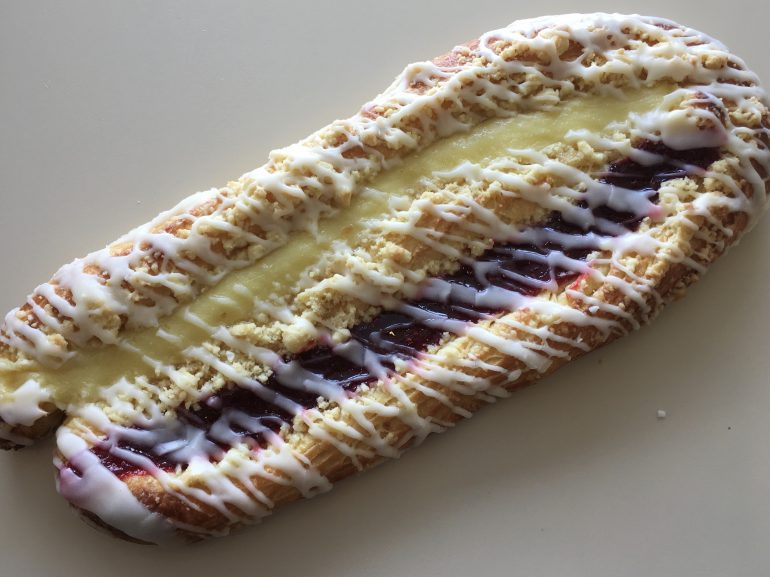 Custard Raspberry Strip