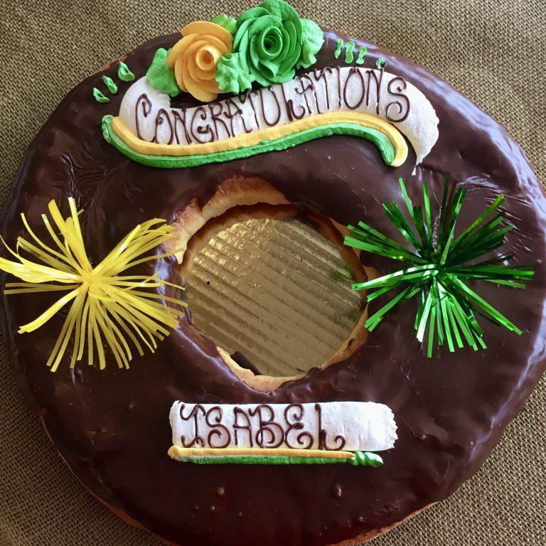 Giant Chocolate Donut - Graduation 2020