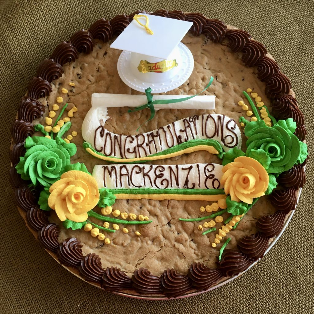Giant Chocolate Chip Cookie Cake - Graduation 2020