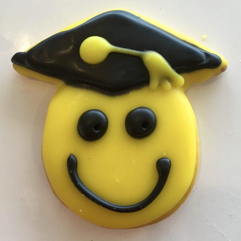 Smiley Grad Cookie