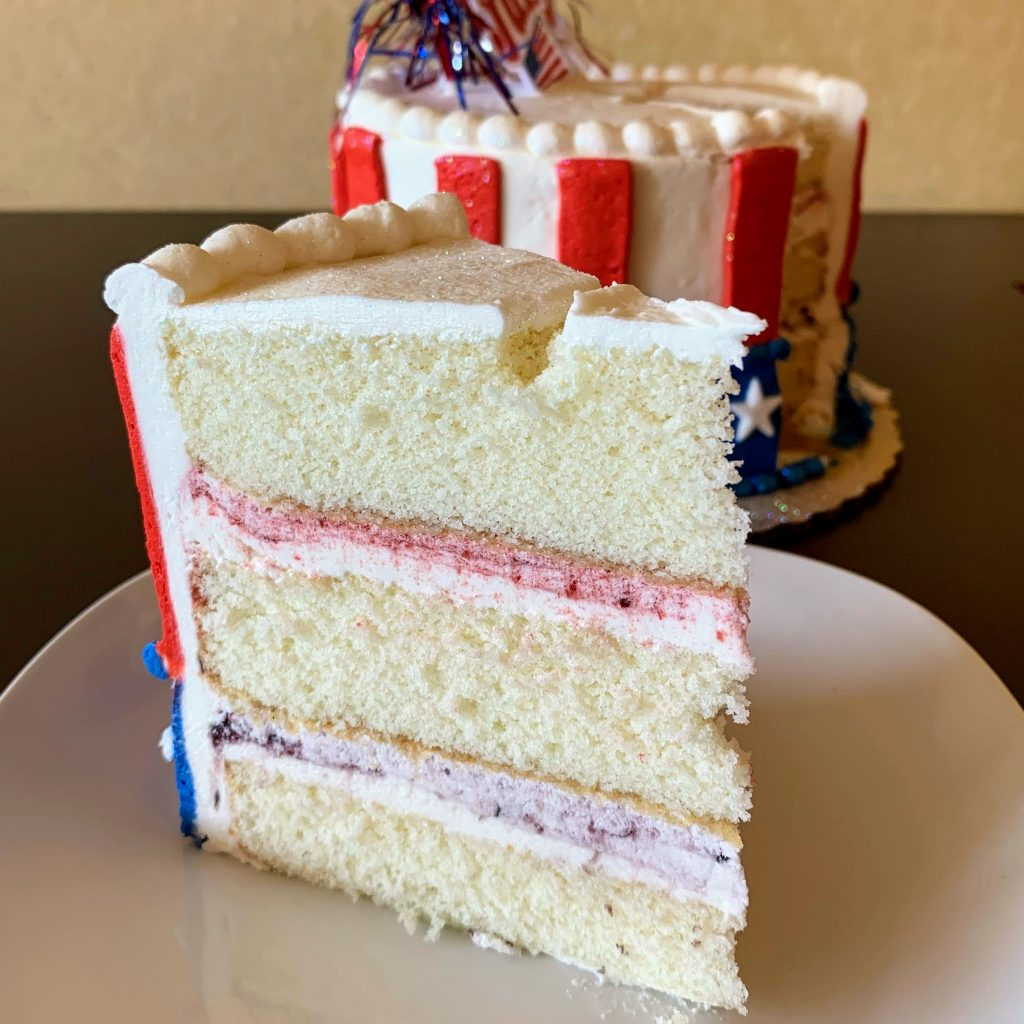 4th of July Cake Slice 2020