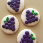 Iced Cookies - Grapes, Wine