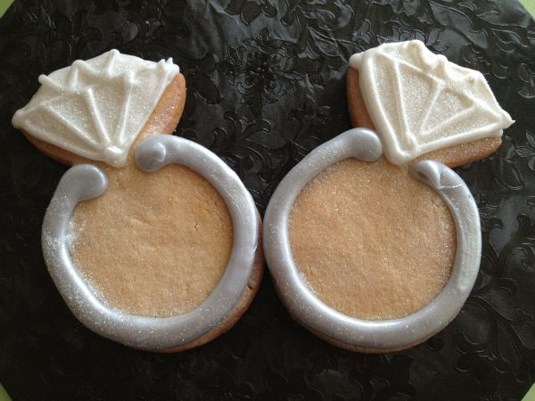 Iced Cookies - Engagement Rings