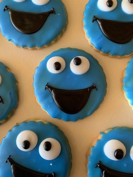Iced Cookies - Cookie Monster