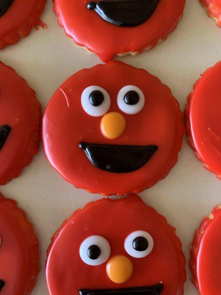 Iced Cookies - Elmo