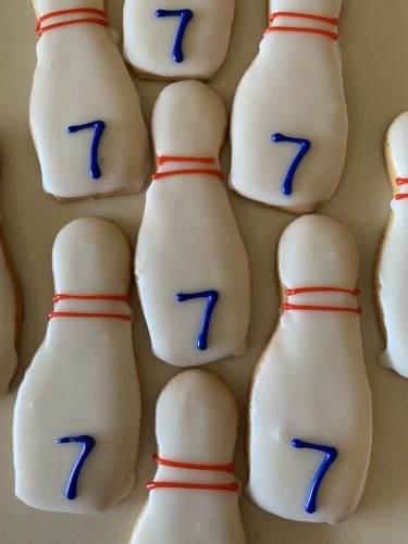 Iced Cookies - Bowling Pins