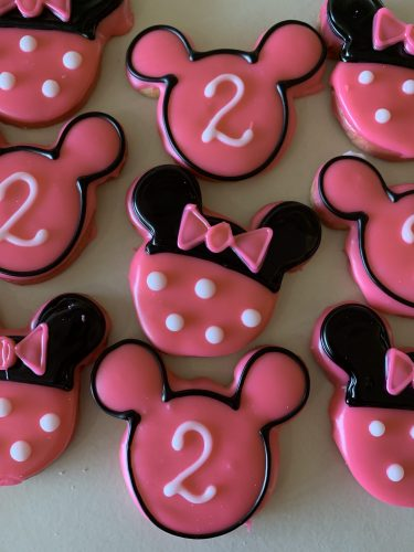 Iced Cookies - Minnie Mouse